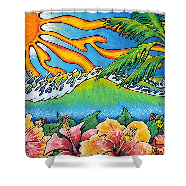 Summer Blooms Shower Curtain