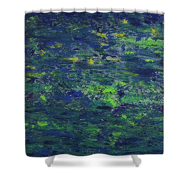 Summer Blue Serenity Shower Curtain