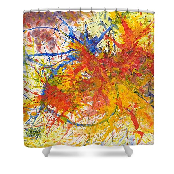 Summer Branches Alfame With Flower Acrylic/water Shower Curtain