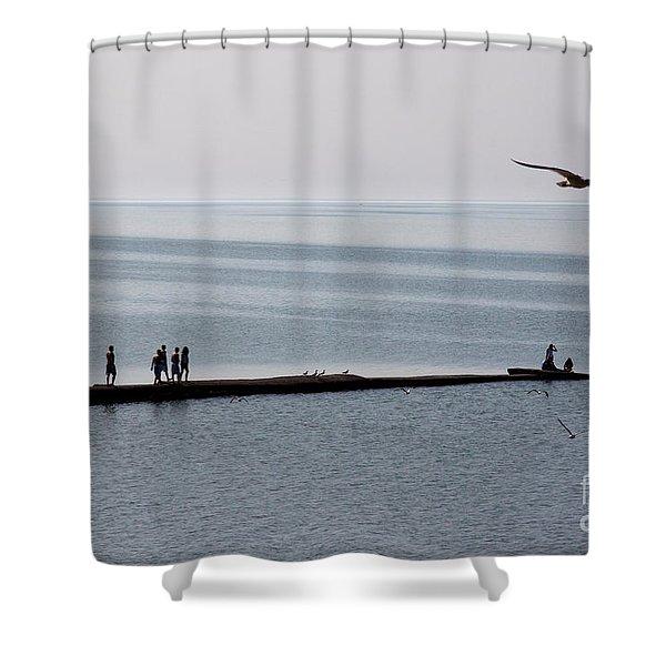 Summer Break Shower Curtain