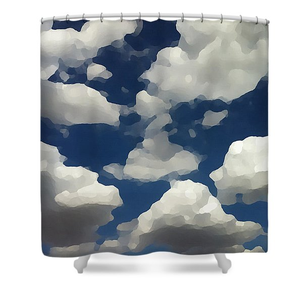 Summer Clouds In A Blue Sky Shower Curtain