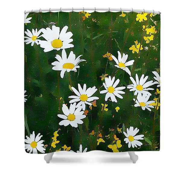 Summer Daisies Shower Curtain