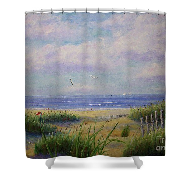 Summer Day At The Beach Shower Curtain