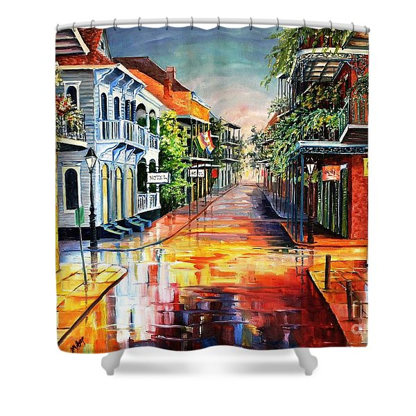 Summer Day On Royal Street Shower Curtain