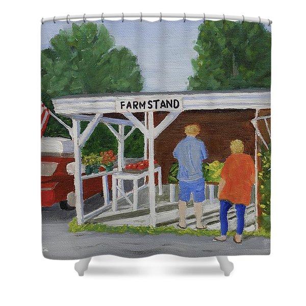 Summer Farm Stand Shower Curtain
