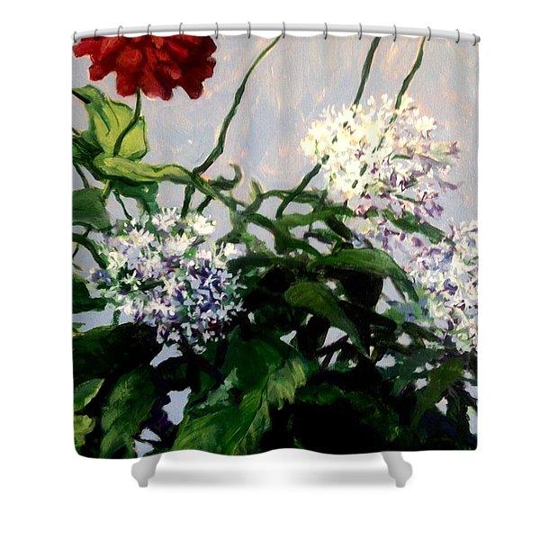 Summer Flowers 1 Shower Curtain