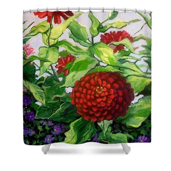 Summer Flowers 3 Shower Curtain