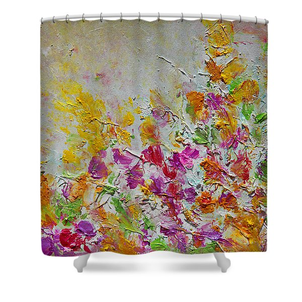 Summer Fragrance Abstract Painting Shower Curtain