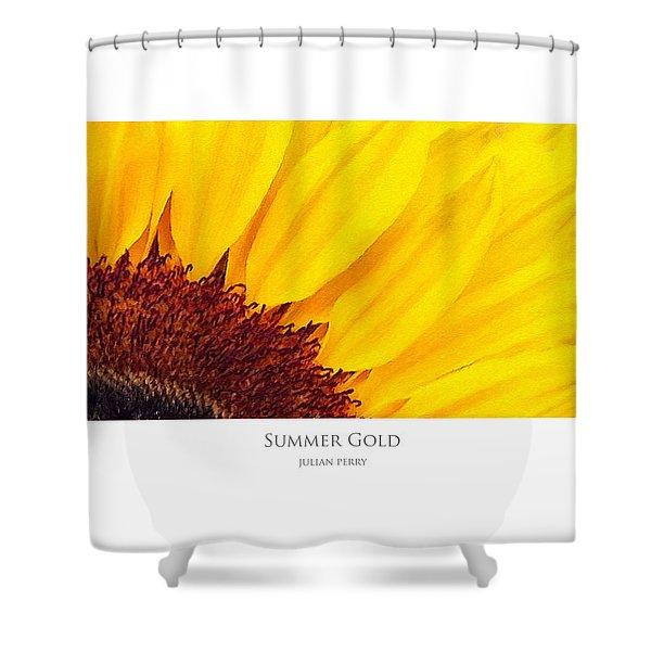 Summer Gold Shower Curtain
