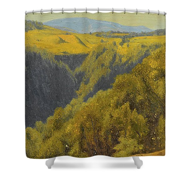 Summer In The Hills Shower Curtain