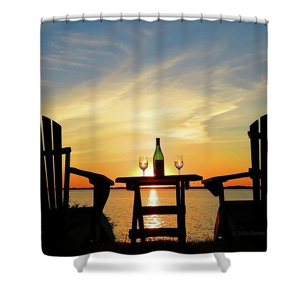 Summer In The River Shower Curtain