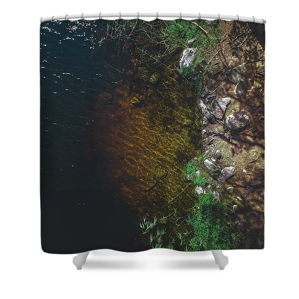 Summer Lake - Aerial Photography Shower Curtain