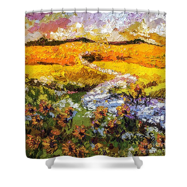 Summer Landscape Sunflowers Provence Shower Curtain