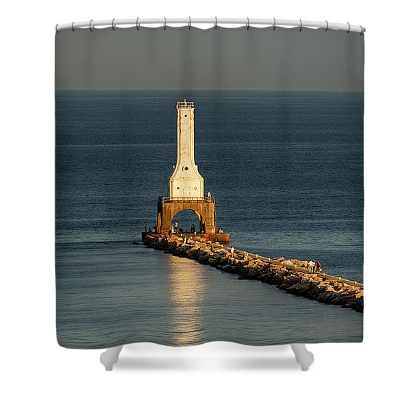 Summer Lighthouse Shower Curtain