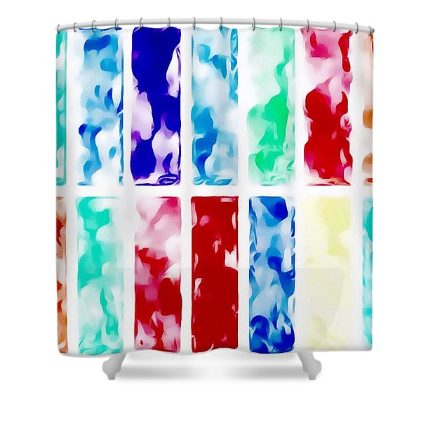 Shower Curtain featuring the painting Summer by Mark Taylor
