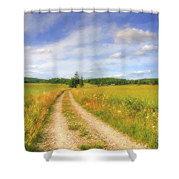 Summer Meadows Shower Curtain