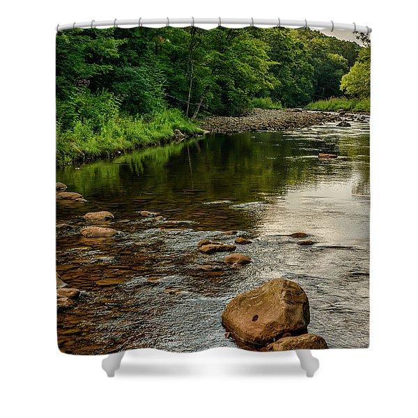 Summer Morning Williams River Shower Curtain