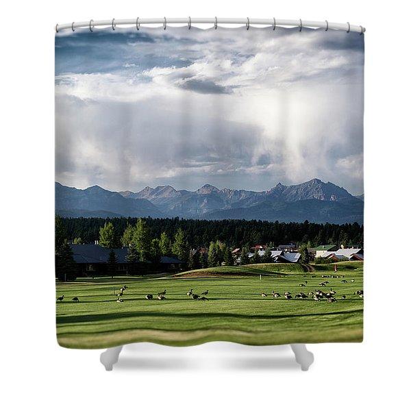 Shower Curtain featuring the photograph Summer Mountain Paradise by Jason Coward