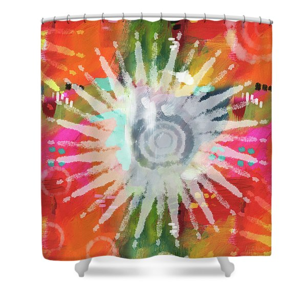 Summer Of Love- Art By Linda Woods Shower Curtain
