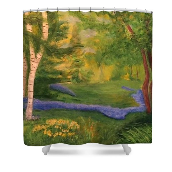 Summer On Orcas Island Shower Curtain