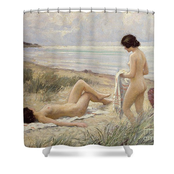 Summer On The Beach Shower Curtain