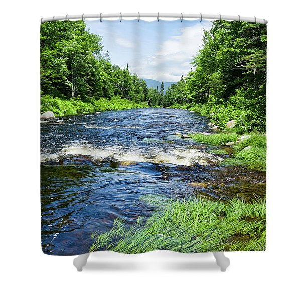 Summer Scene Rangeley Maine  -70742 Shower Curtain