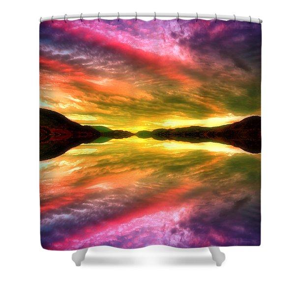 Summer Skies At Skaha Shower Curtain