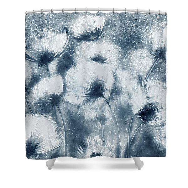 Summer Snow Shower Curtain