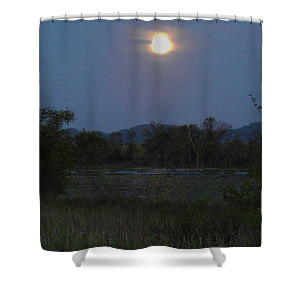 Summer Solstice Full Moon Shower Curtain