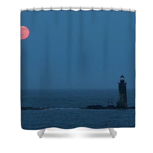 Summer Solstice Strawberry Moon Shower Curtain