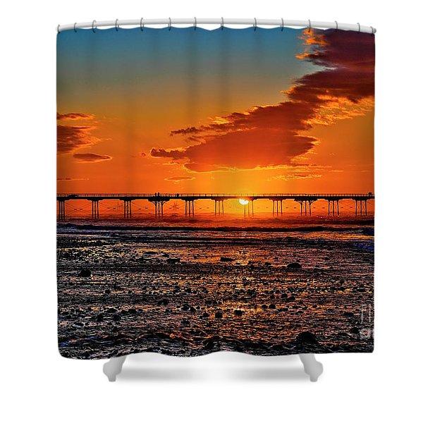 Summer Solstice Sunset Shower Curtain