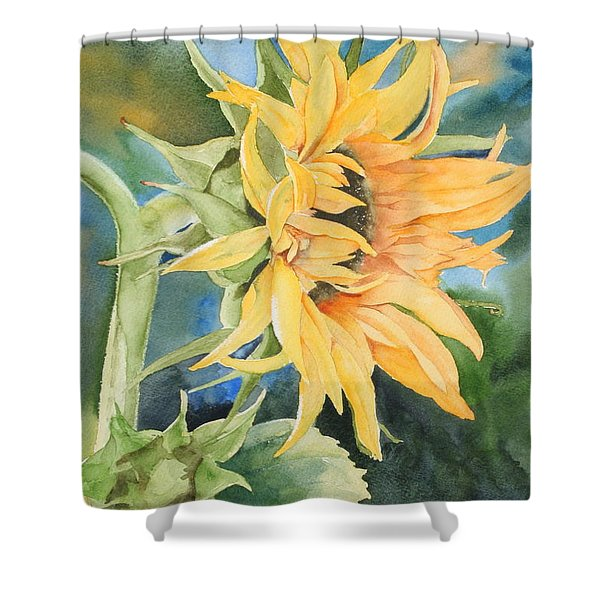 Summer Sunflower Shower Curtain
