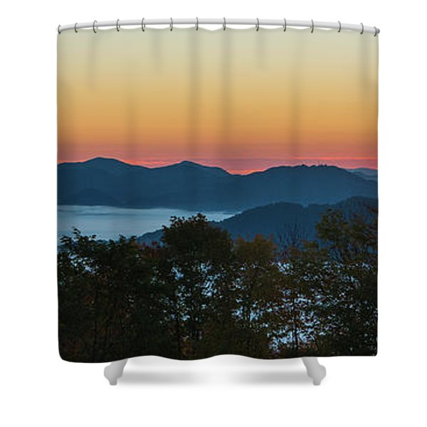 Shower Curtain featuring the photograph Summer Sunrise - Almost Dawn by D K Wall