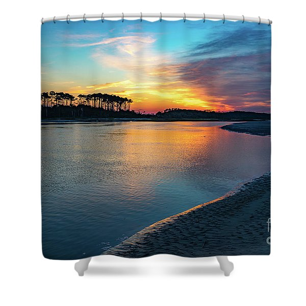 Summer Sunrise At The Inlet Shower Curtain
