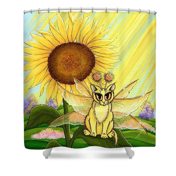 Summer Sunshine Fairy Cat Shower Curtain