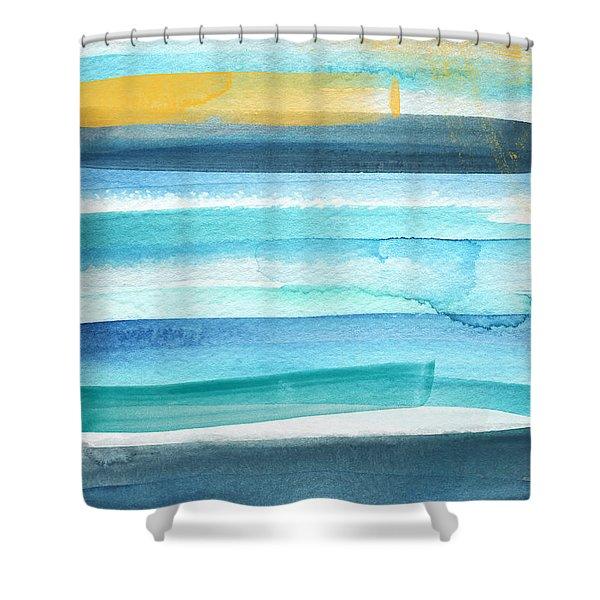 Summer Surf 2- Art By Linda Woods Shower Curtain