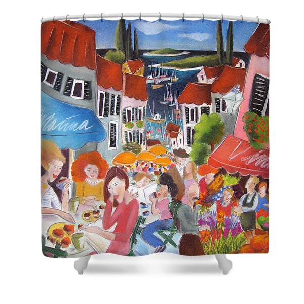 Summer Shower Curtain by Tatjana Krizmanic