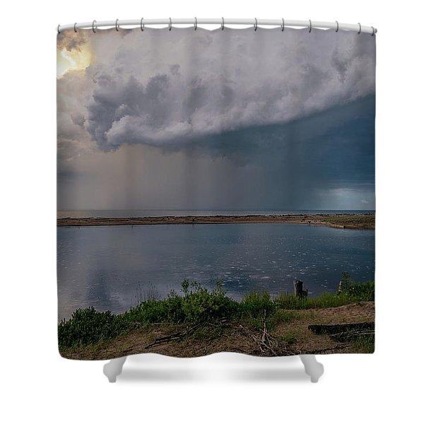 Summer Thunderstorm Shower Curtain