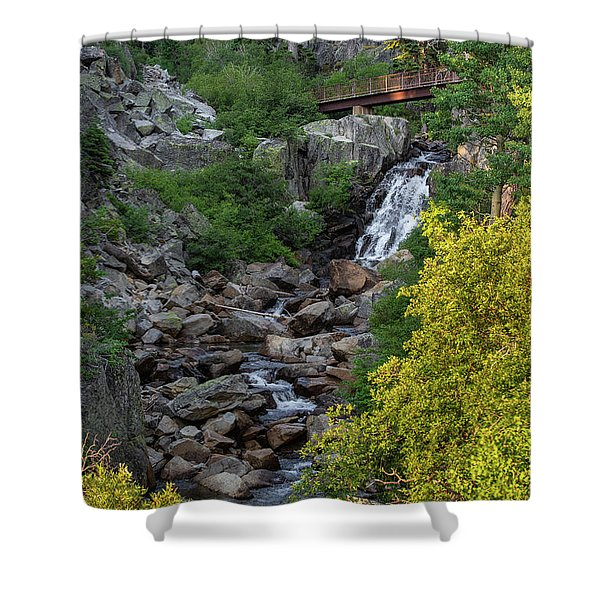 Summer Waterfall Shower Curtain