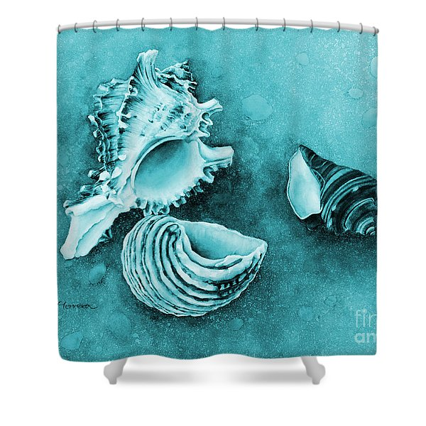 Summer Whispers On Blue Shower Curtain