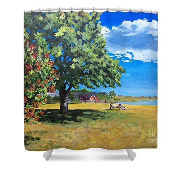 Summer's End In Biddeford At Biddeford  Pool Shower Curtain