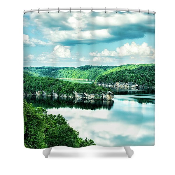 Summertime At Long Point Shower Curtain