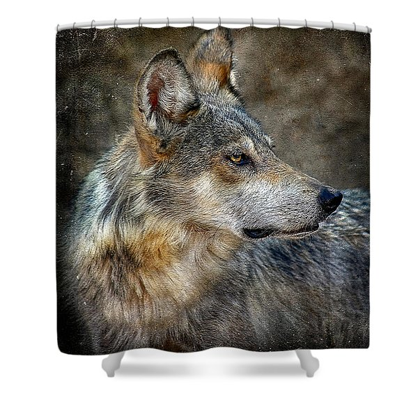 Summertime Coated Wolf Shower Curtain