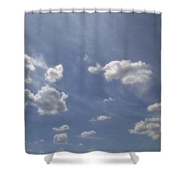 Summertime Sky Expanse Shower Curtain