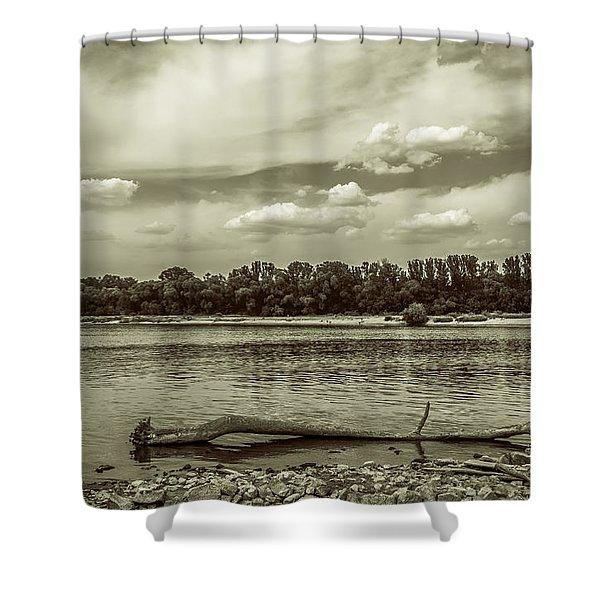 Summertime Vistula River In Warsaw Shower Curtain