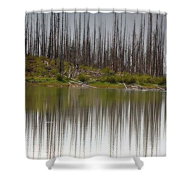 Summit Lake Shower Curtain