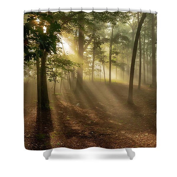 Sun And Clouds Shower Curtain