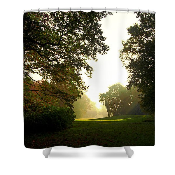 Sun Beams In The Distance Shower Curtain