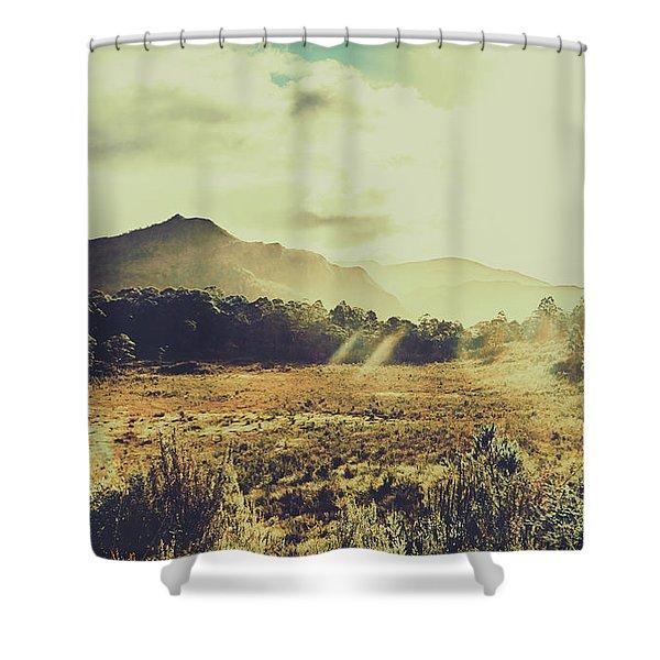 Sun Bleached Australia Shower Curtain