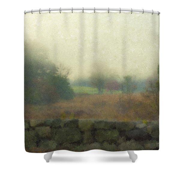 Sun Breaking Through Shower Curtain